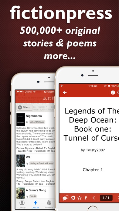 Fictionpress review screenshots