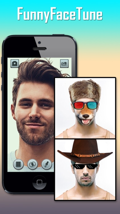 Funny Face Tune Pro - Selfie Photo Maker to Add Tattoo, Wig, Mustache, Piercing and More on Yr Body screenshot-1