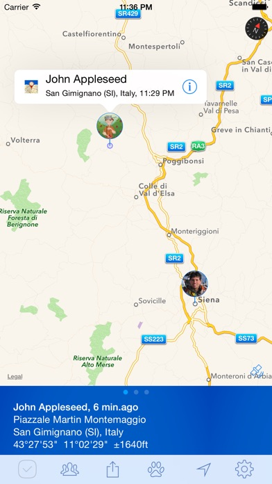 PlaceTrack - family tracking and location sharing Screenshot