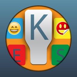 Keyboard+ iOS8 -Color Stickers Keyboards, Emoji Words Maker