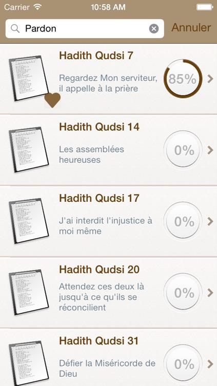 40 Hadiths Qudsi en Français et en Arabe + Audio mp3 en Arabe screenshot-3