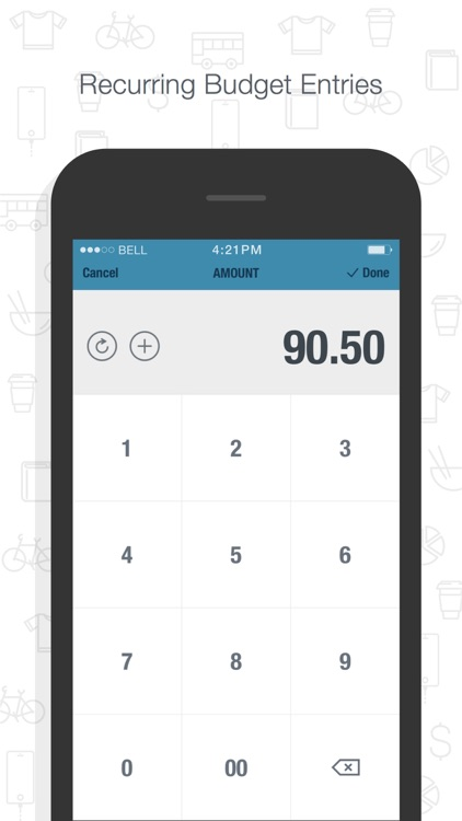 BUDGT - monthly finances, day by day screenshot-4