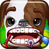 ' A Baby Puppy Pet Tooth Vet- Farm Animal Dentist Game