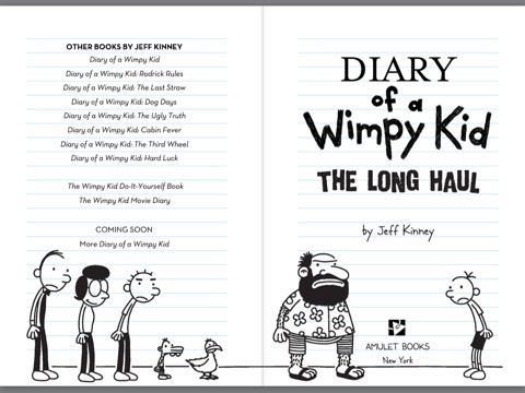 The long haul diary of a wimpy kid 9 by jeff kinney on ibooks screenshot 1 solutioingenieria Choice Image