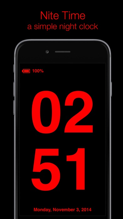 Nite Time - a simple night clock for your nightstand with flashlight screenshot one