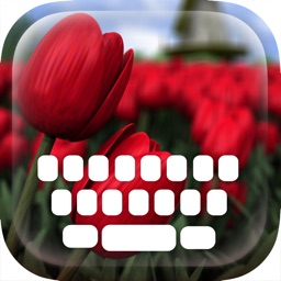 Custom Keyboard Flower and Beautiful Blossoms : Color & Wallpaper Themes in the Garden Style
