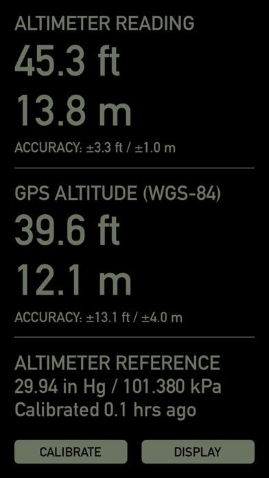 Pro Altimeter - Barometric Altimeter with Manual/GPS/METAR Calibration screenshot two