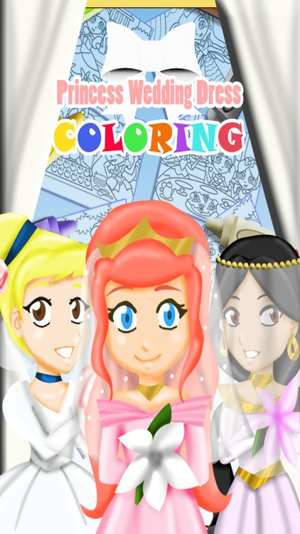 Princess Wedding Dress Coloring - Magical Makeover Book
