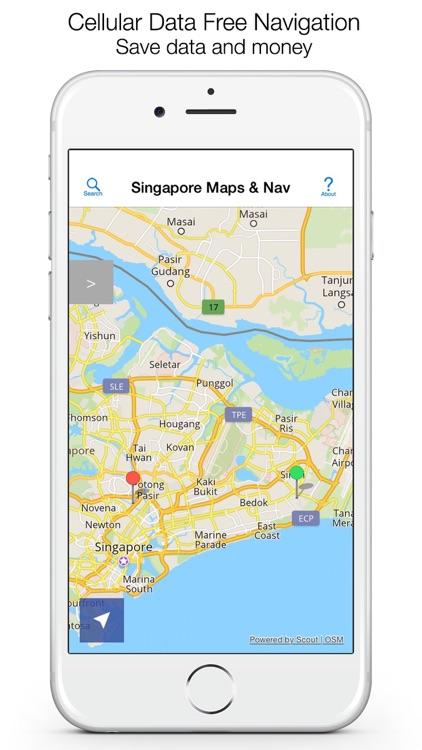 Singapore Offline Maps and Offline Navigation screenshot-0