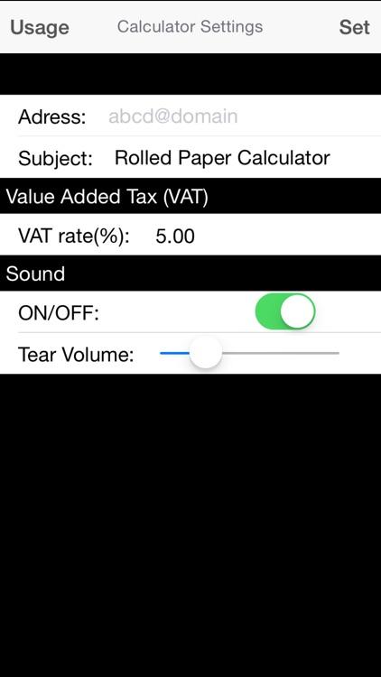 Rolled Paper Calculator Flat screenshot-3