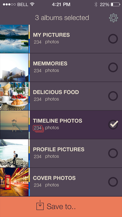 PikUp - Backup Social Photo screenshot one