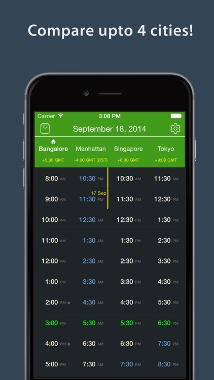 World TimeZlider - Convert time, schedule and share screenshot-4