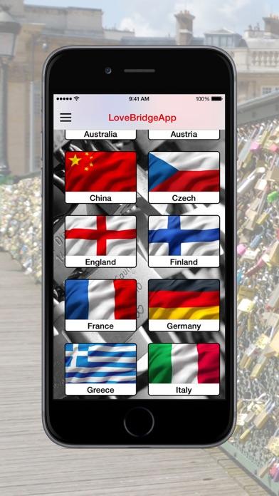 LoveBridge App - Love lock virtual - Virtuelle LiebesschlösserScreenshot von 2