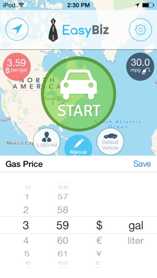 EasyBiz Mileage Tracker Lite - Log miles and expenses for business tax deductions Screenshot