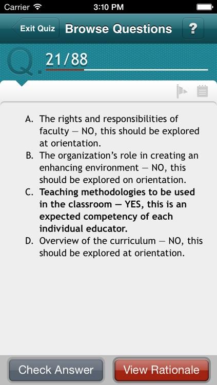 Certified Nurse Educator Q&A Review screenshot-3