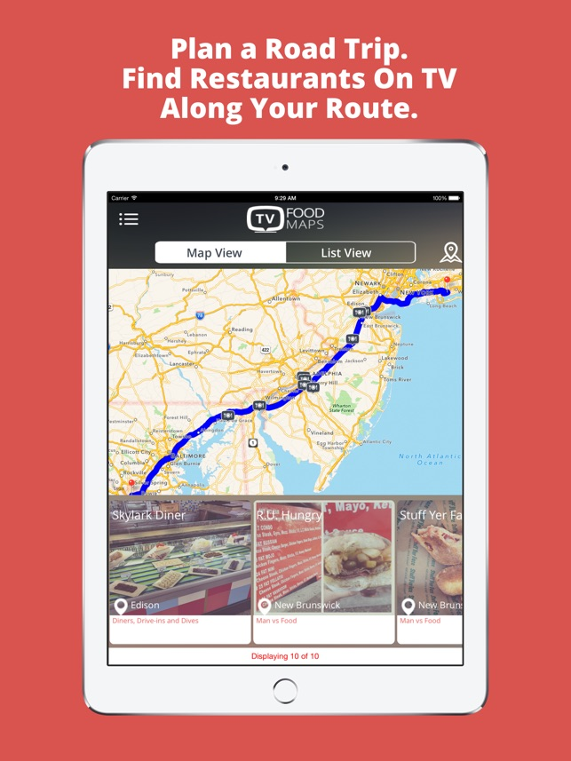 TV Food Maps - Restaurants on TV, Road Trip Planner, Diners, Drive Diners Drive In And Dives Map on