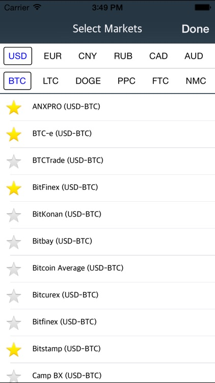 bitcoin real time app