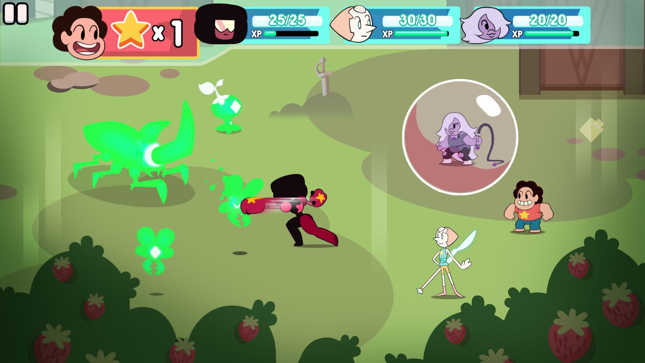 Screenshot do app Ataque ao Prisma - Steven Universo RPG Leve