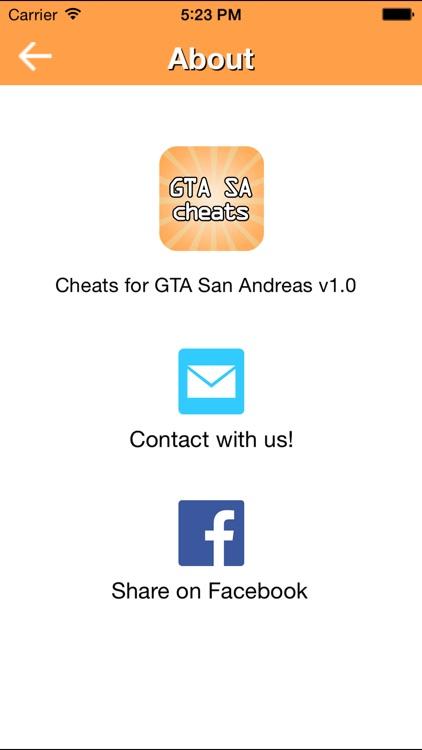 Cheats for GTA SA screenshot-4