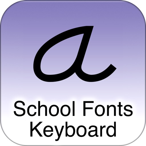 SchoolFonts Keyboard - Lowercase and Uppercase