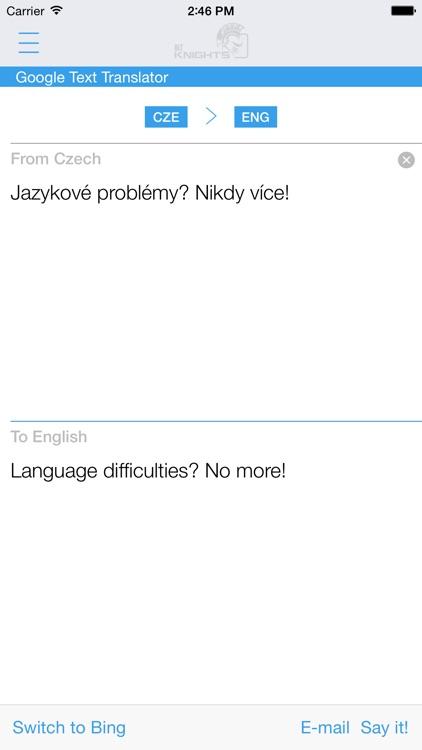 Free Czech English Dictionary and Translator (Česko - anglický slovník)