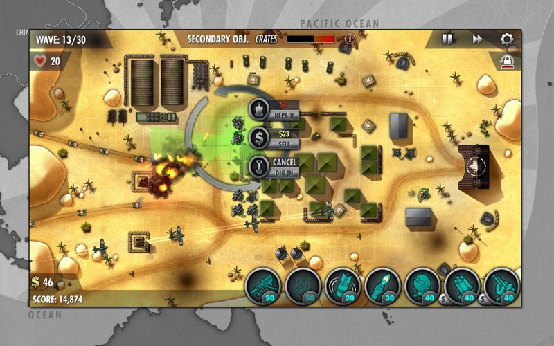 iBomber Defense Pacific screenshot 1