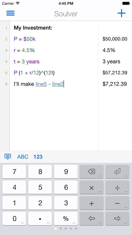 Soulver - the notepad calculator screenshot-3