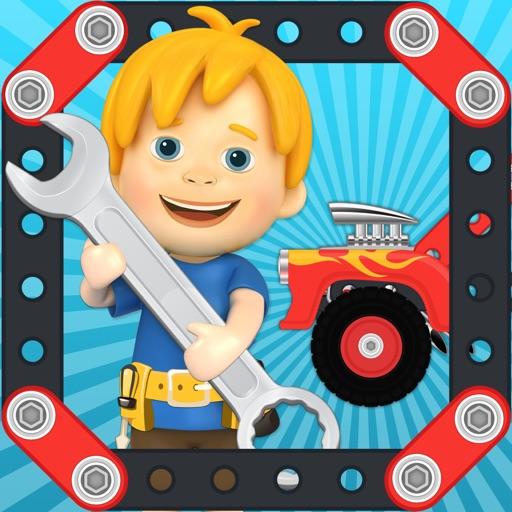 Car Maker Games: Fun Free Simulator Games for Kids Boys & Girls. Build, Make & Play Vehicles