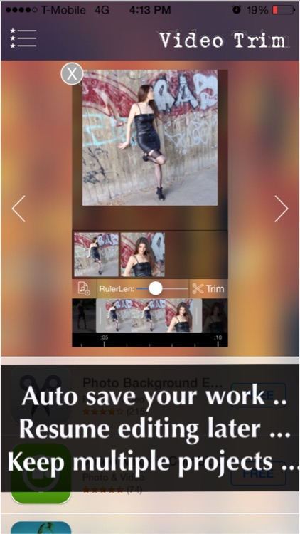 Video Trimmer - Trim multiple portions in your movie clip then merge the clips as one! screenshot-3