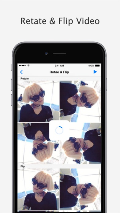 Video+Rotate & Flip Pro - for iPhone, iPod touch and iPadのおすすめ画像1
