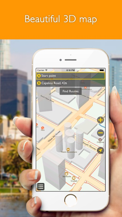 download Los Angeles offline map with public transport route planner for my journey apps 3