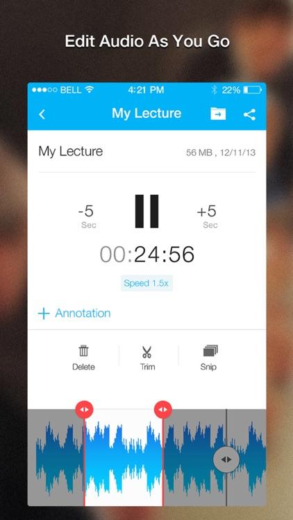 Recordium Highlight - voice recorder, take notes and memos screenshot-3