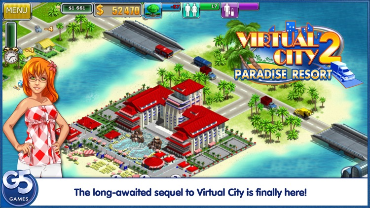 Virtual City 2: Paradise Resort screenshot-0