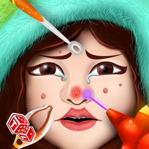 皮膚醫生 - 面部美容療程治愈的疾病的化妝品,在門診醫生