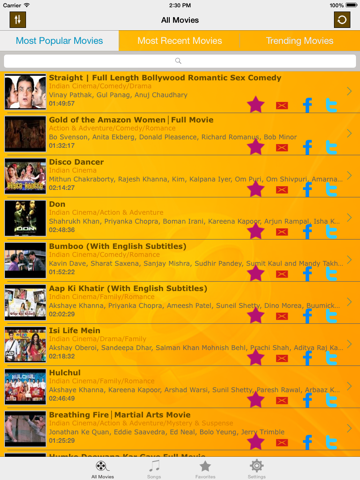Hindi Cinema - Bollywood movies and updated songs collection | App