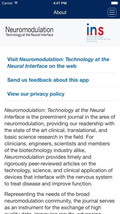 Neuromodulation: Technology at the Neural Interface screenshot-4