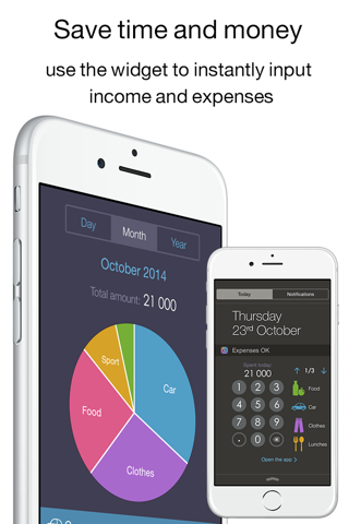 Income OK - the excellent income and expense tracker (its handy widget save your time,money and finance) screenshot 1
