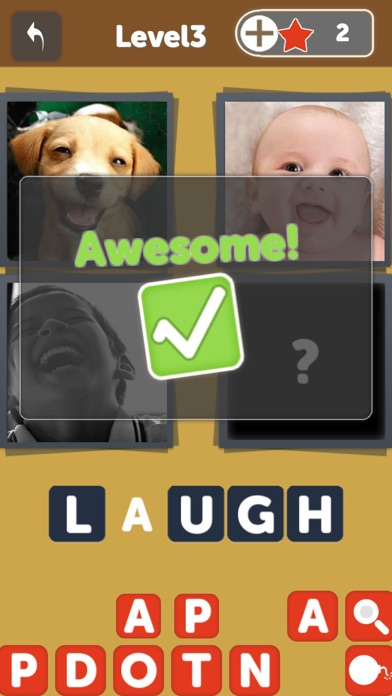 download OMG Guess What - Pics to words puzzle Quiz, find 1 word from 4 picture in this free family pic game apps 1
