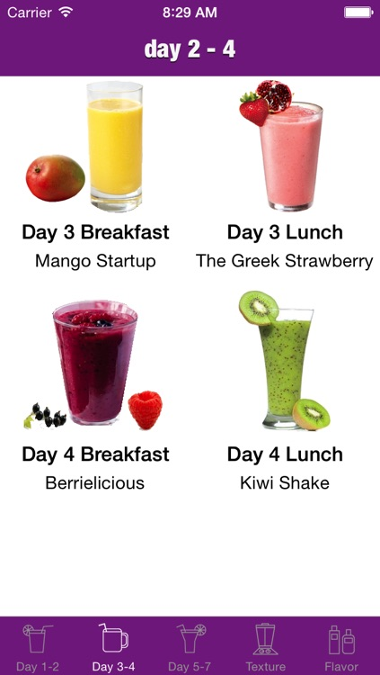 7 Day Fruit Smoothie Cleanser screenshot-4