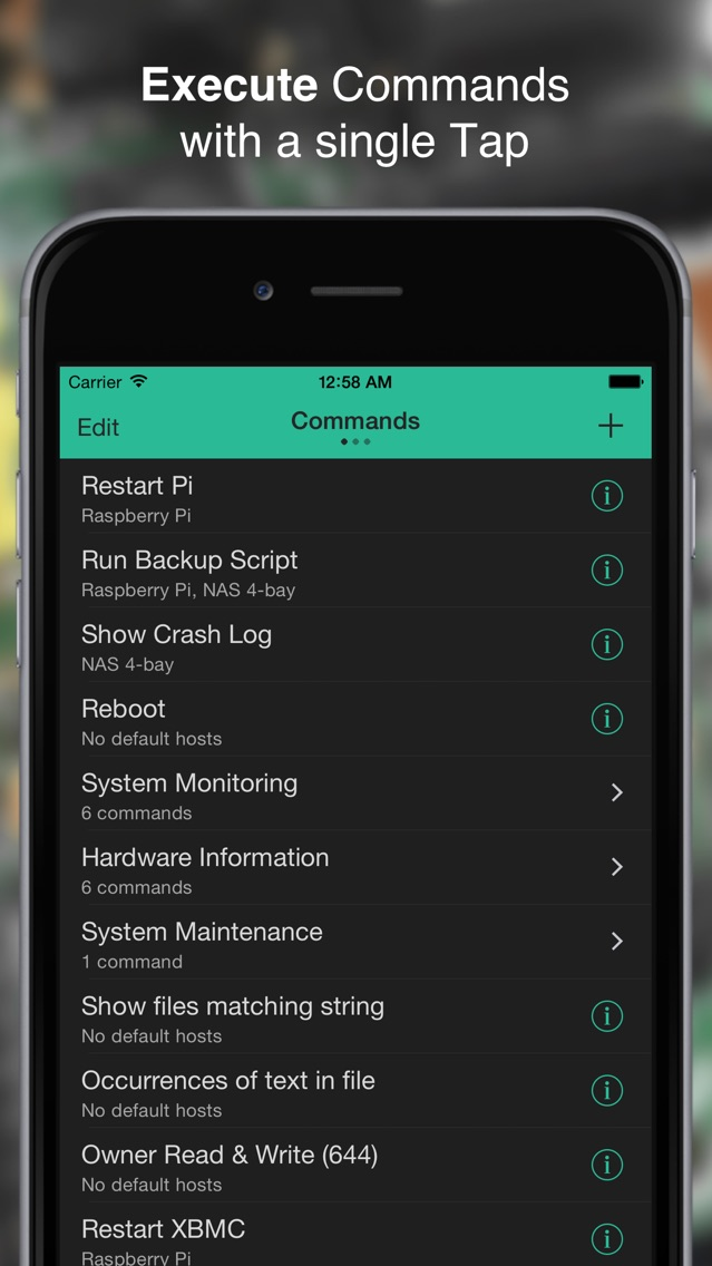 Screenshot for SimpleSSH - SSH Commands, File Viewer & Terminal in Germany App Store