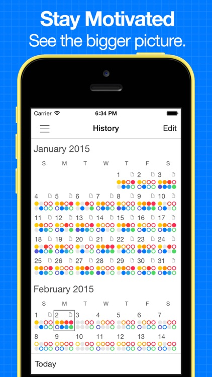 Daily Goals - Simple habit tracker and goal tracking with progress, streaks, analysis & reminders screenshot-1
