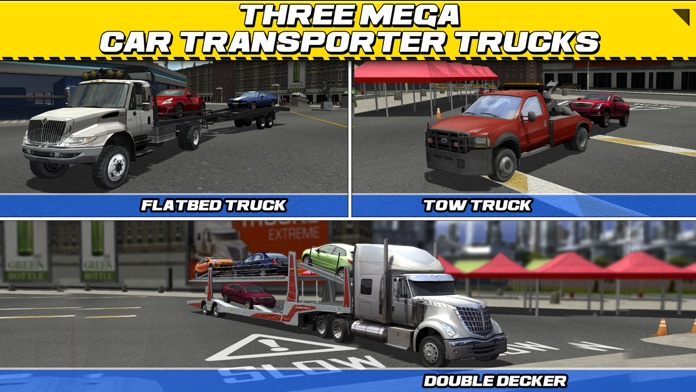 Car Transport Truck Parking Simulator - Real Show-Room Driving Test Sim Racing Games Screenshot