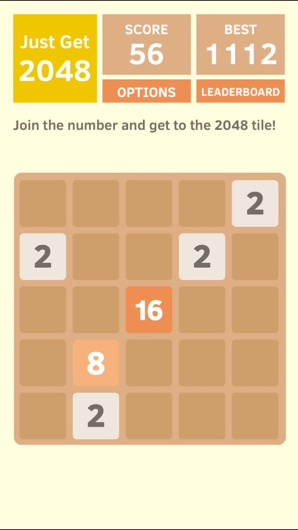Just Get 2048 - A Simple Puzzle Game ! screenshot-4