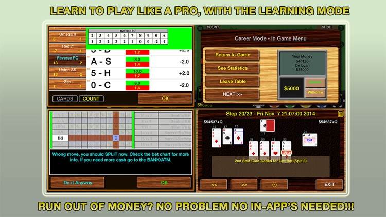 Blackjack 21 Pro Multi-Hand FREE for iPad + (Blackjack Pass/Spanish 21/Super 31) (Vegas Casino Game) screenshot-3