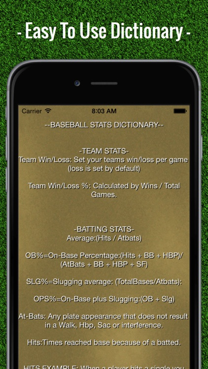 Baseball Stats Tracker Touch screenshot-4