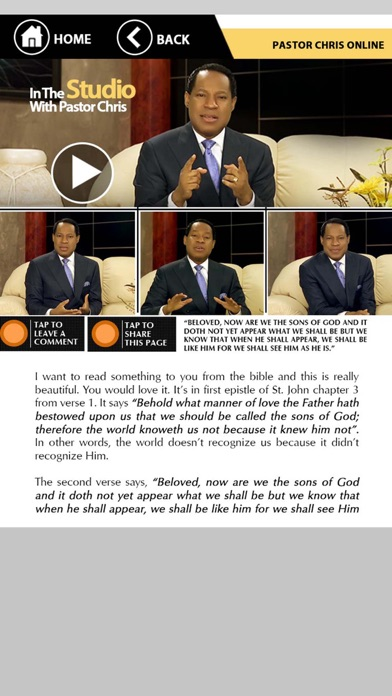 Pastor Chris Online App screenshot two