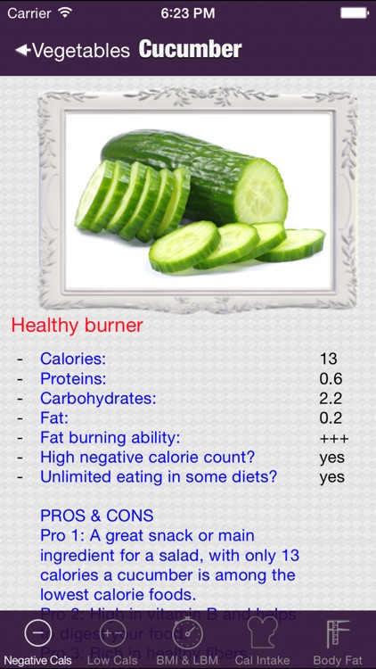 negative calorie weight loss tool