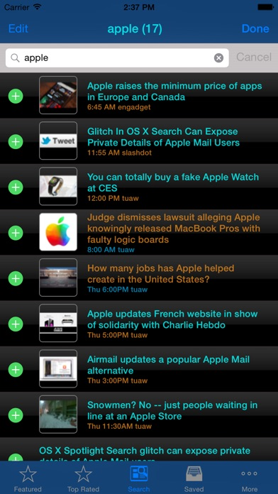 Best paid news apps for iPhone (iOS 7 and below)
