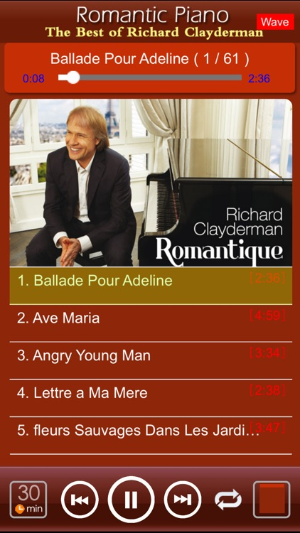 Romantic Piano[Richard Clayderman] screenshot-2
