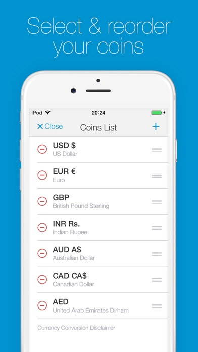 Change - Currency Converter | Foreign Exchange Rates Screenshot